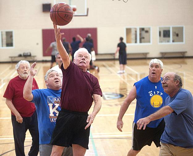 Image result for old people playing basketball